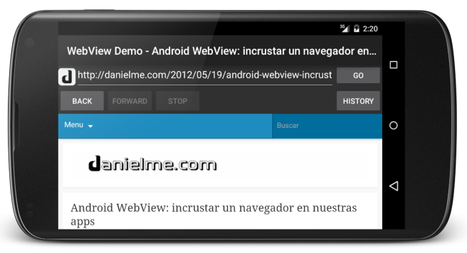 android browser with webview