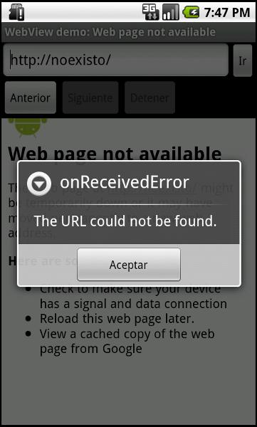 WebView - OnReceivedError