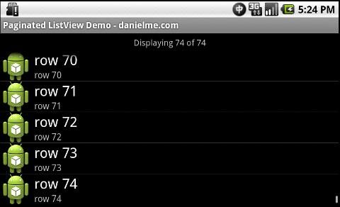 Endless ListView Demo - 2