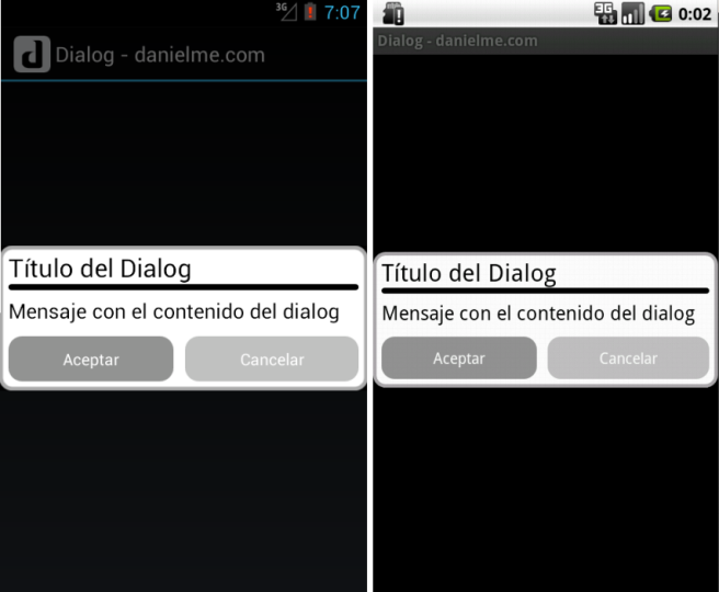 android custom dialog