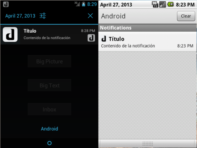 notifications android
