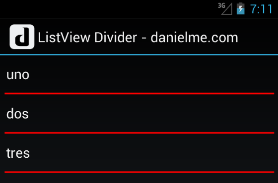 android listview divider