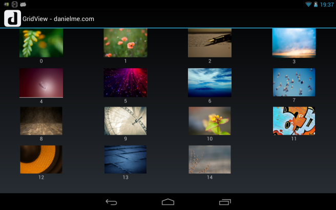 android gridview