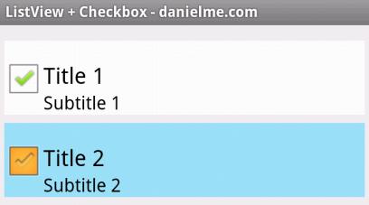 listview checkbox