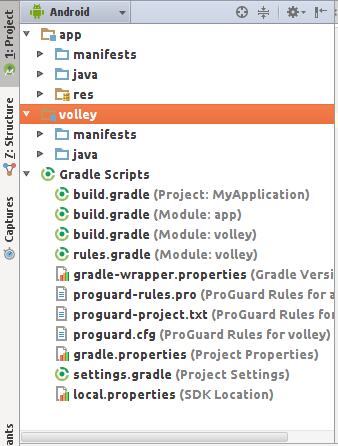android studio module volley