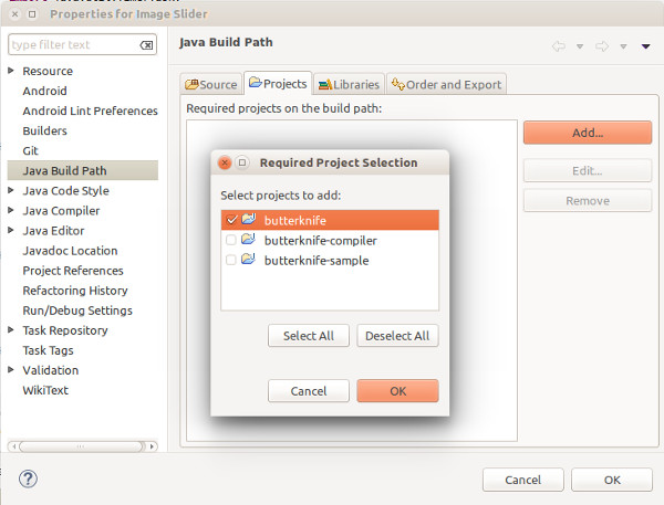 eclipse java build path