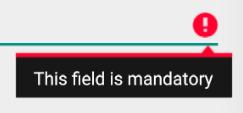 EditText Error