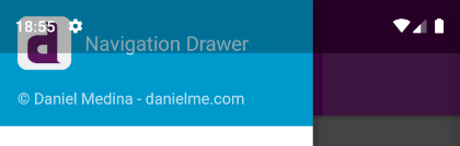 android drawer overlap status bar