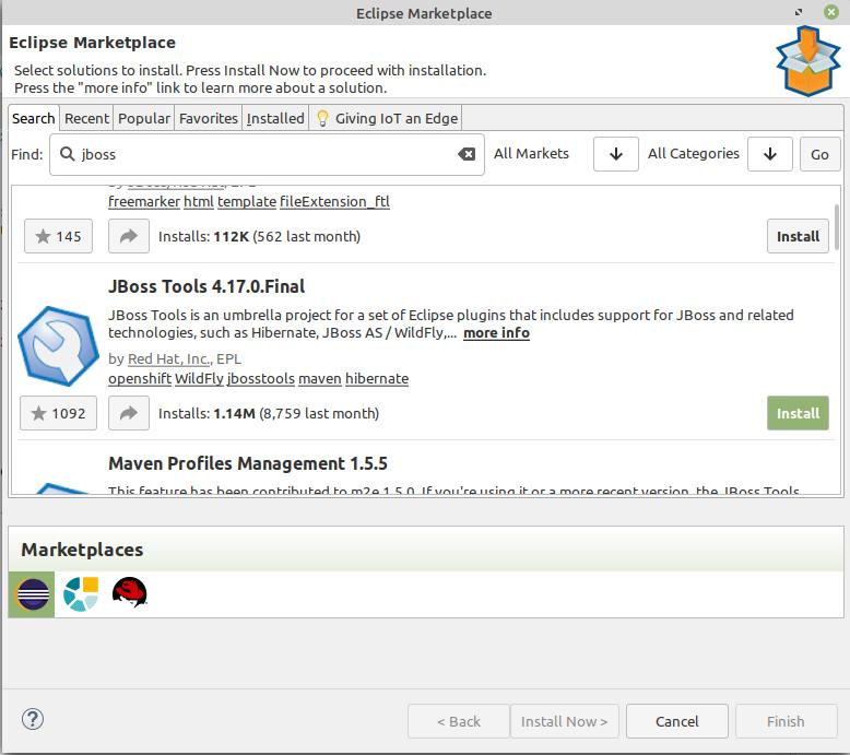 Eclipse marketplace jboss tools
