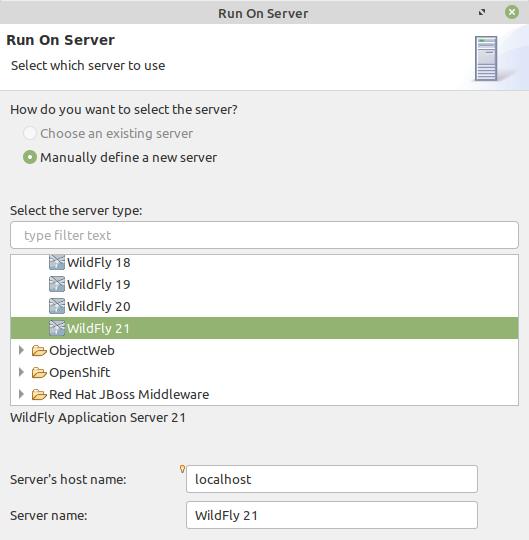 eclipse select server