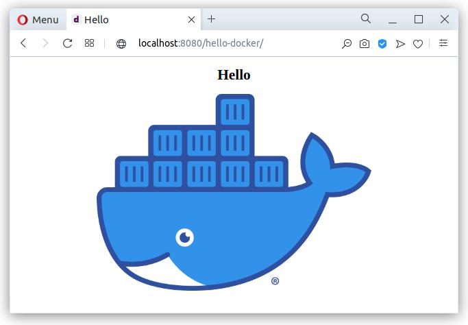 Docker hello app