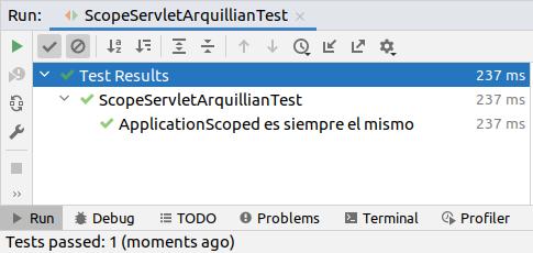 IntelliJ run test arquillian WildFly