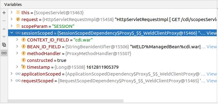Weld Proxy object